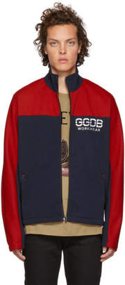 Golden Goose Blue and Red Zip-Up Jacket