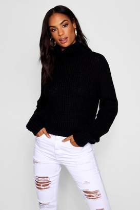 boohoo Tall Roll Neck Soft Knit Jumper