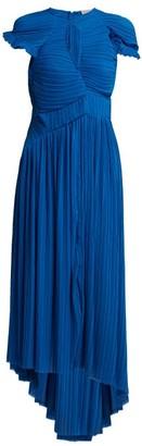 Preen by Thornton Bregazzi Milly Pleated Georgette Dress - Womens - Blue