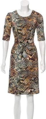 Blumarine Embellished Wool Dress