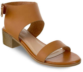 OLIVIA MILLER Cocoa Chunky Heel Buckle Sandals Women's Shoes