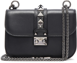 Valentino Small Noir Lock Flap Bag $2,345 thestylecure.com