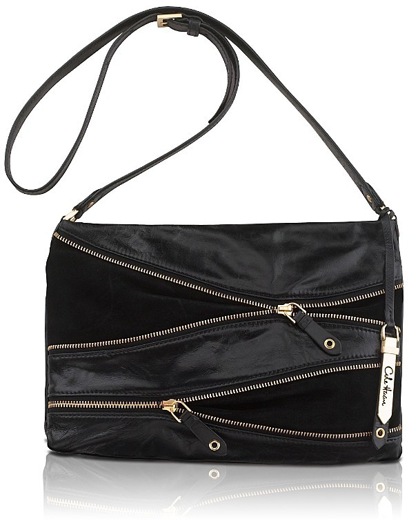 Cole Haan Felicity Zipper-Detailed Leather Clutch