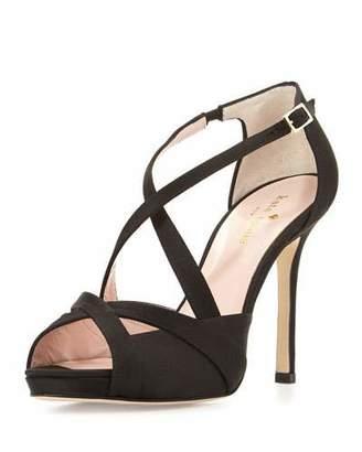 Kate Spade Fensano Strappy Suede Sandal, Black