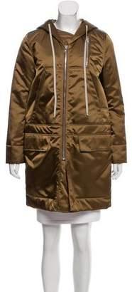 Rick Owens Hooded Knee-Length Coat