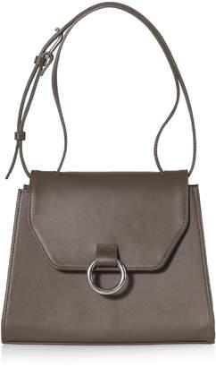 Joanna Maxham Lady O Olive Leather Shoulder Bag