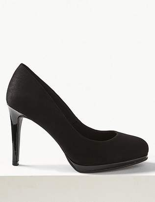 Marks and Spencer Wide Fit Stiletto Platform Court Shoes