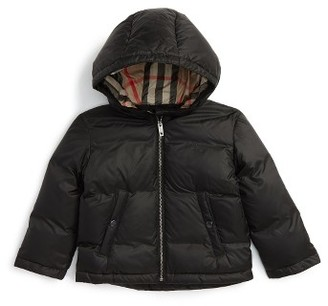 Toddler Boy's Burberry Rio Hooded Down Jacket $250 thestylecure.com