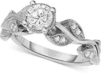 Macy's Diamond Vine-Inspired Engagement Ring (5/8 ct. t.w.) in 14k White Gold