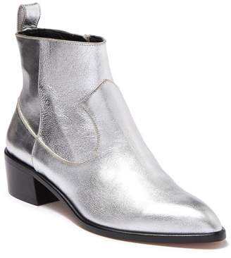 Veronica Beard Tanner Metallic Leather Ankle Boot