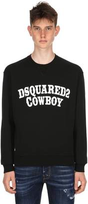 DSQUARED2 Dan Fit Cowboy Printed Jersey Sweatshirt