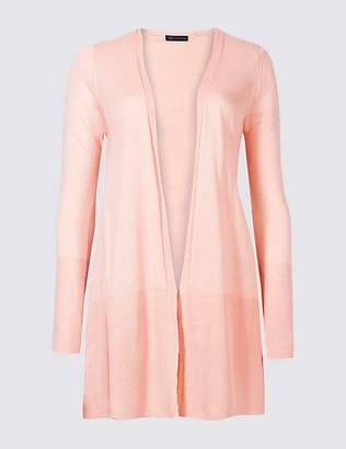 Marks and Spencer Open Front Ribbed Cardigan