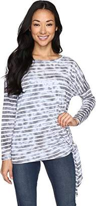 Allen Allen Long Sleeve Side-Tie Top