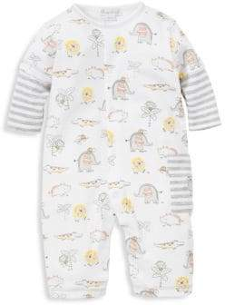 Kissy Kissy Baby's Jungle Jamboree-Print Cotton Playsuit