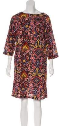 Dries Van Noten Printed Shift Dress