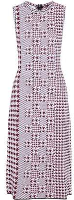 Oscar de la Renta Jacquard-Knit Virgin Wool Midi Dress