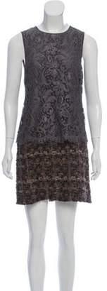 Dolce & Gabbana Mini Lace Dress Grey Mini Lace Dress