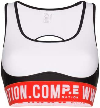 P.E Nation Domain logo sports bra