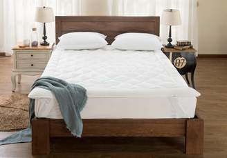 """blowoutbedding King Waterbed - High Quality - Down Alternative Mattress Pad/ Topper-Fully Reversible (Double Life)-1"""" w/ Stay Tight Anchor Straps"""
