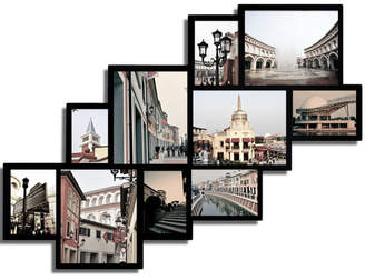 Ebern Designs Barcenas 10 Opening Wood Photo Collage Wall Hanging Picture Frame