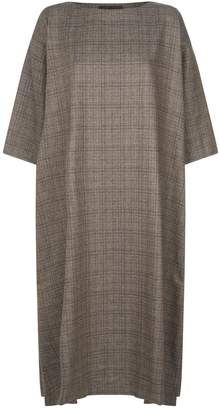 eskandar Broken Check Tunic Dress