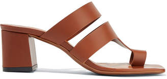 Neous - Anthos Cutout Leather Mules - Brown