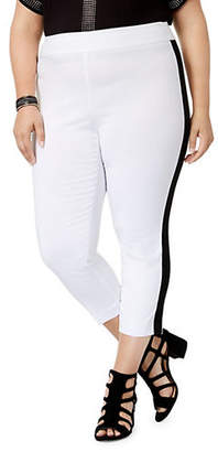 INC International Concepts Plus Side Stripe Crop Pants