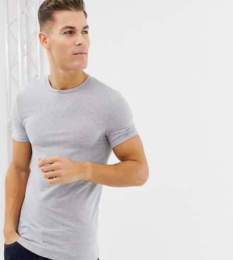 Asos Design DESIGN Tall muscle fit t-shirt with crew neck in grey marl