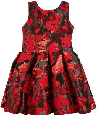 Zoe Abstract Floral Jacquard Party Dress Size 4-6X