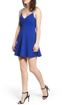Love, Nickie Lew Jewel Strap Skater Dress