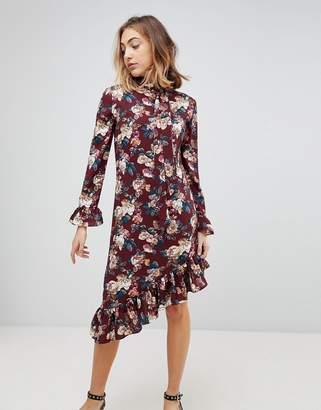 Walter Baker Gayle Asymmetric Hem Floral Print Dress