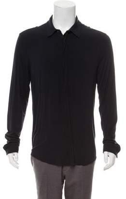 Giorgio Armani Jersey Button-Up Shirt