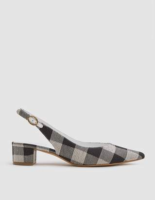 Mansur Gavriel Checker Slingback Heel in Black Gingham