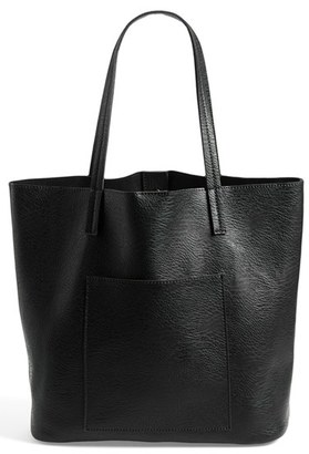 Street Level Faux Leather Pocket Tote $48 thestylecure.com