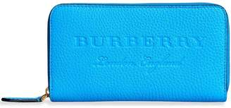 Burberry Embossed Leather Ziparound Wallet