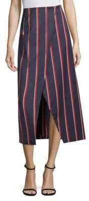 SOLACE London Apolline Striped Midi Skirt