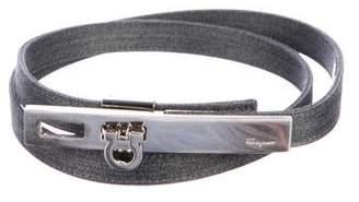 Salvatore Ferragamo Woven Logo Belt