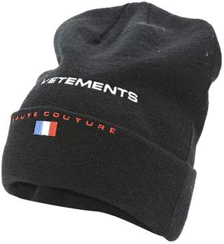 Vetements Black Wool Hats & pull on hats