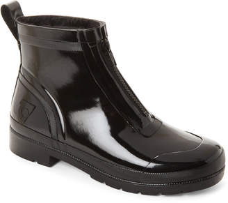 Tretorn Black Lina Zip Short Rain Boots