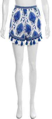 Alice McCall Printed Lace Embellished Mini Shorts
