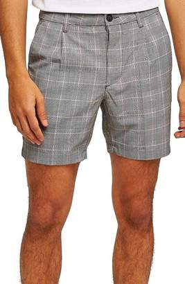 Topman Pleated Check Shorts