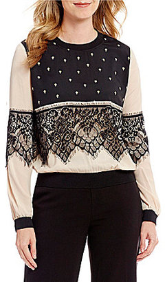 Mika Mindel Taelyn Printed Blouse $139 thestylecure.com