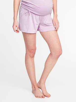 "Old Navy Maternity Foldover Bow-Tie Lounge Shorts (3 3/4"")"