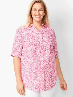 Talbots Perfect Shirt - Elbow-Length Sleeves - Paisley