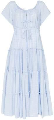 Innika Choo Sea Mist Peasant Dress