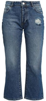 Each X Other Distressed Mid-rise Kick-flare Jeans