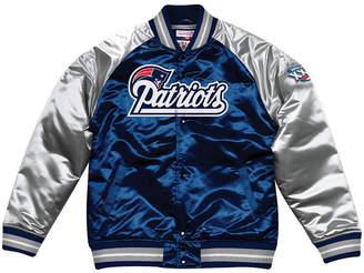 Mitchell & Ness Men New England Patriots Tough Season Satin Jacket