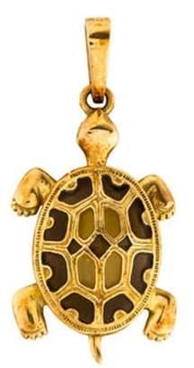 18K Glass Turtle Pendant yellow 18K Glass Turtle Pendant