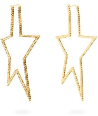 Lynn Ban - Star Pave Topaz Gold Plated Earrings - Womens - Gold