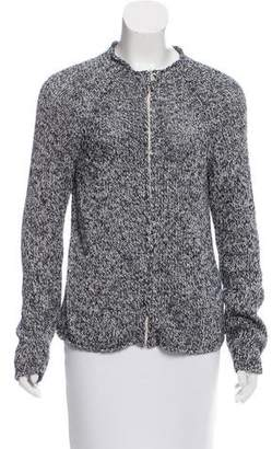 Max Mara Weekend Rib Knit Zip-Up Cardigan